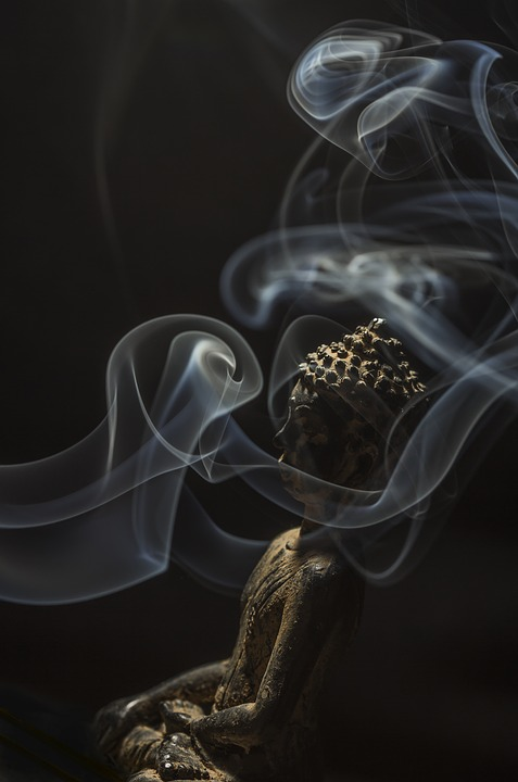 Buddha, Smoke, Buddhism, Incense, Stone, Aroma, Smell