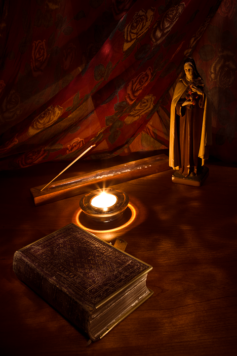 Catholic, Saint, St Mary, Candle, Bible, Incense, Light