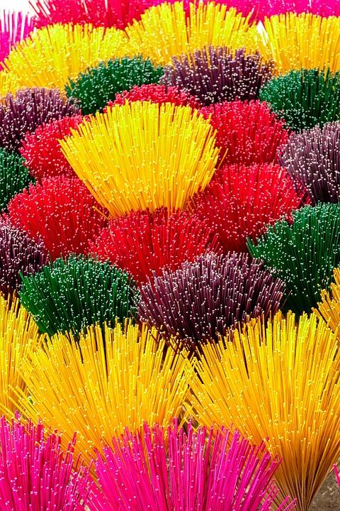 Vietnam, Incense, Colorful