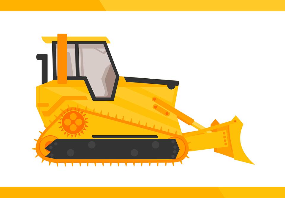 Bulldozer, Utility Vehicle, Ind, Industry, Machine