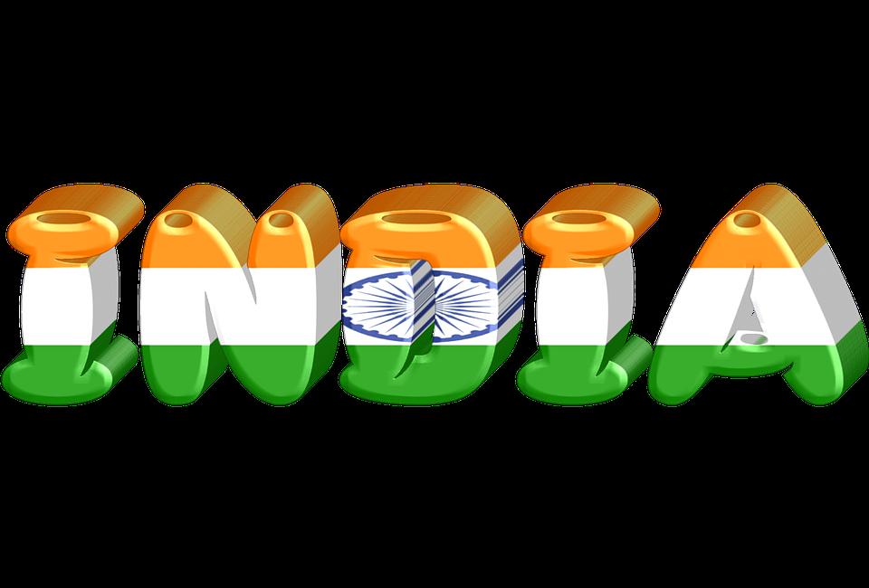 India, State, International, Flag, 3d