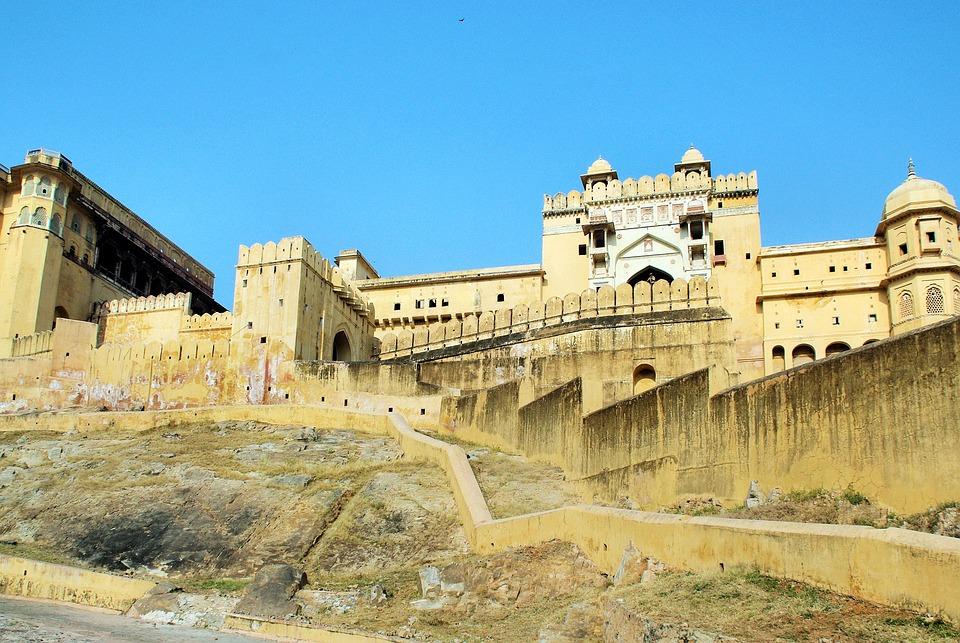 India, Amber, Fortress, Palace, Maharajah, Facade