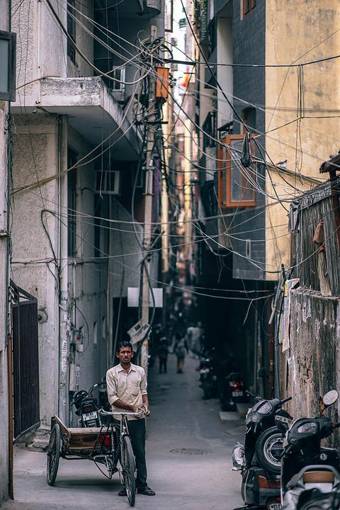 Asia, Asian, Street, Bicycle, Bike, Busy, City, India