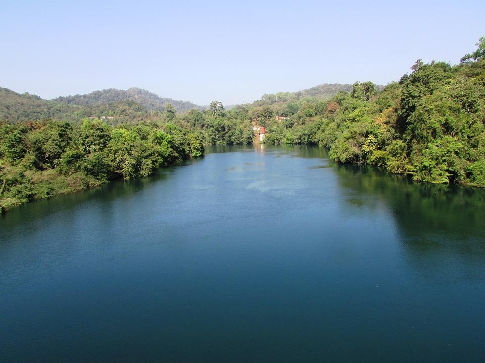 Kali River, Dandeli, India, River, Water, Bend