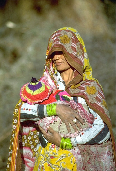 India, Indian Woman, Woman, Child, Tradition, Human
