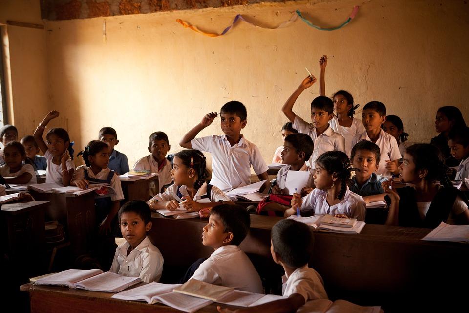 School, Class Room, Children, Boys, Mangalore, India