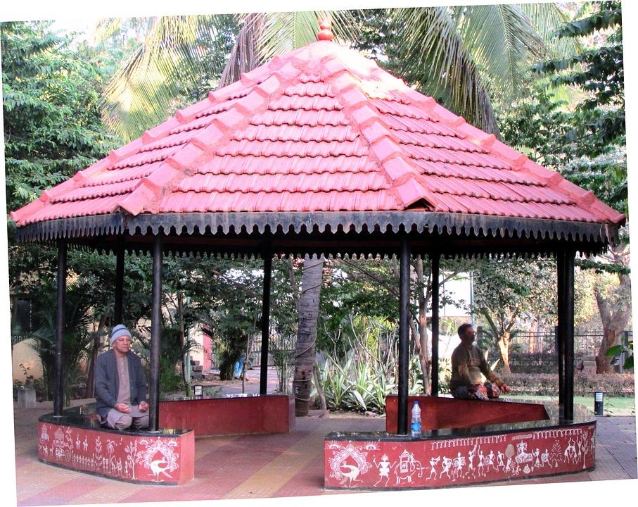 Yoga Hut, Sadanakeri Park, Dharwad, India, Hut