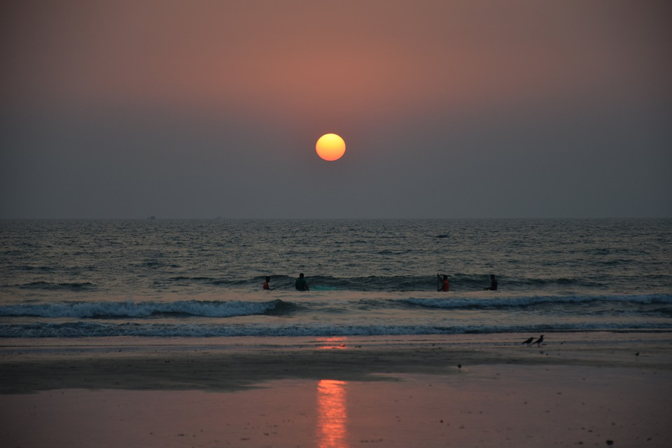 India, Goa, Arabian Sea, Arambol, Sunset, Abendstimmung