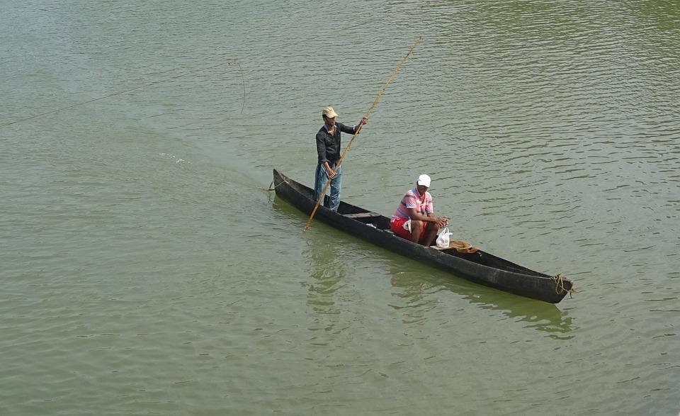 River, Shambhavi, Boat, Konkan Coast, Karnataka, India