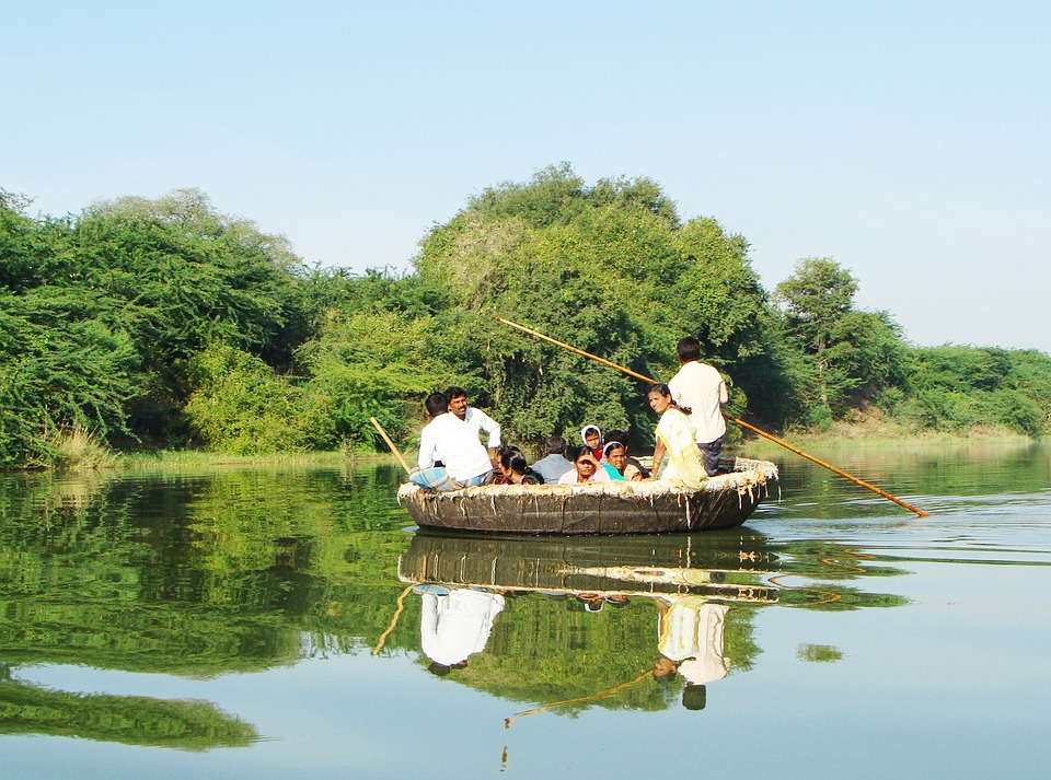 Coracle Ride, Krishna River, Raichur, Karnataka, India