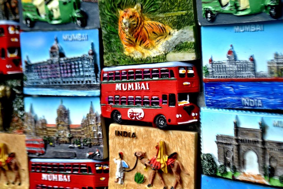 Mumbai, Market, Wall, Deco, India, Asia