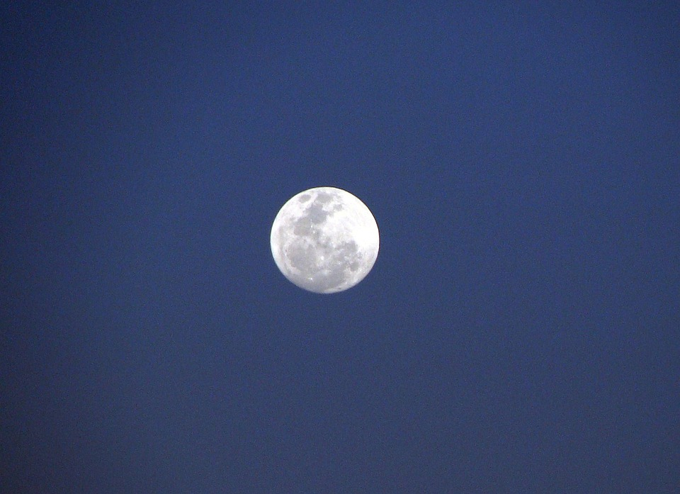 Moon, India, Sky, Scene, Outdoor, Tranquil, Space