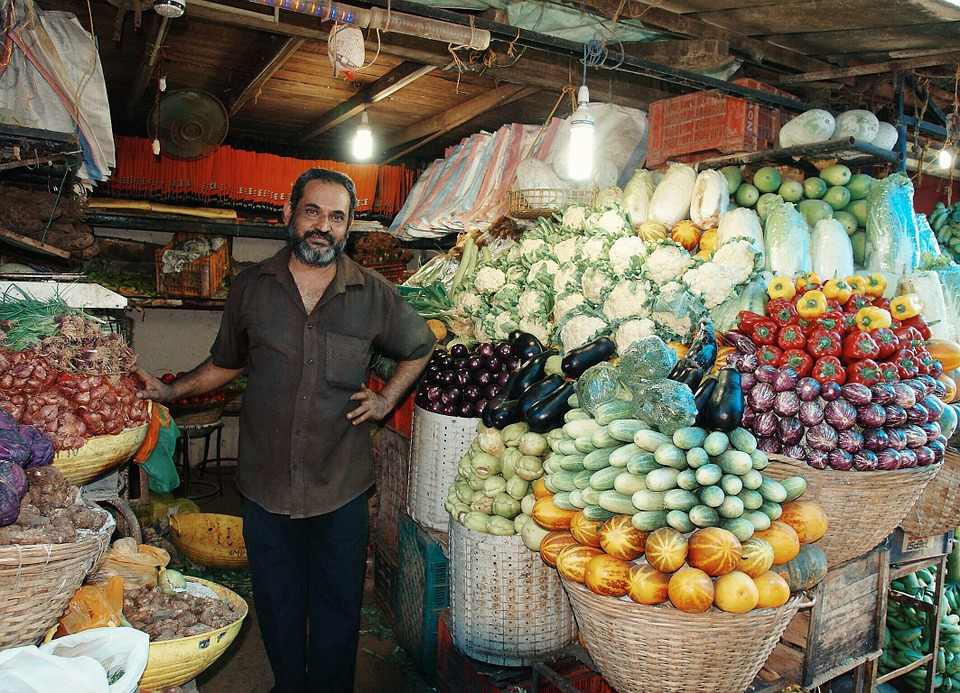 India, Mumbai, Fruits, Market, Vegetables