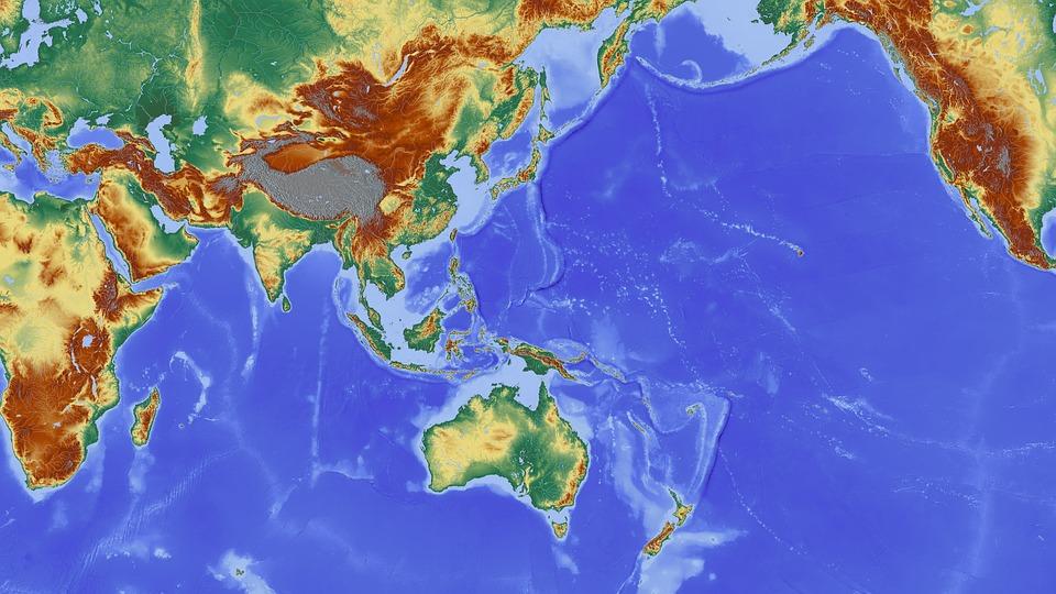 Free photo India Nepal Indian Ocean Asia Australia Map Max Pixel – Australia Ocean Map