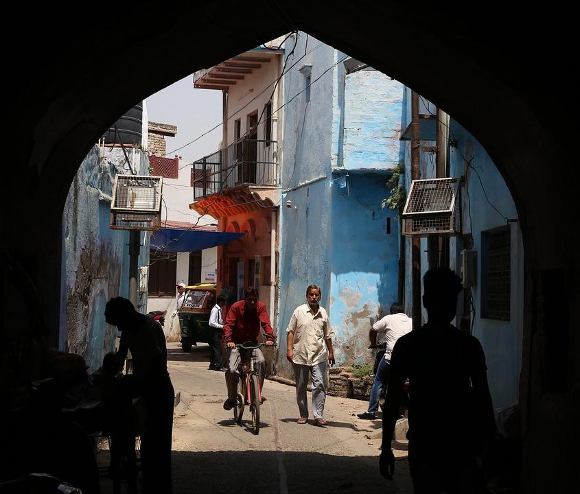 Taj Mahal, Taj Ganz, Indians, India, Agra, Travel, Blue
