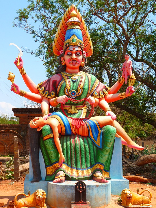 Temple Figure, Temple, Colorful, India
