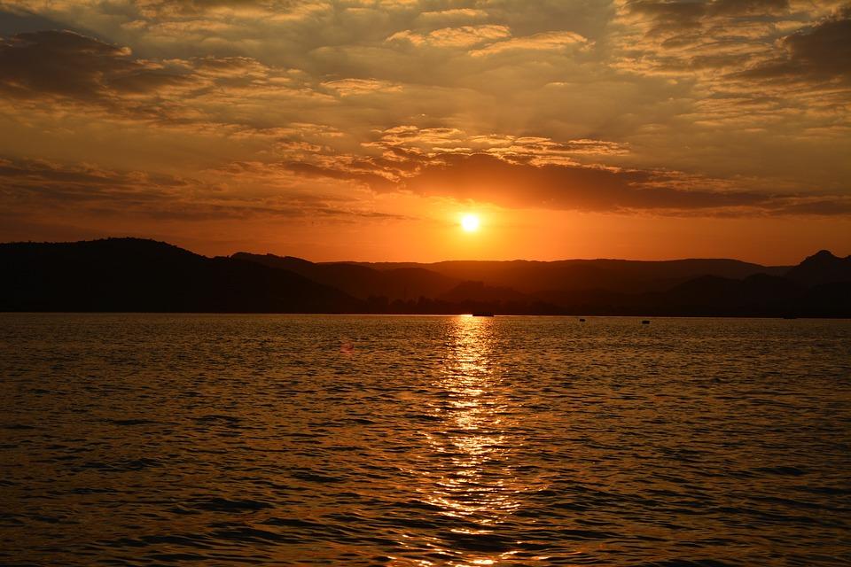 Sun Set, Rajasthan, India, Lake, Tourism, Hindu, Famous