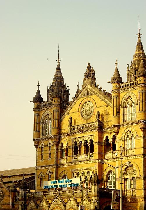 Cst, Train Station, Building, Mumbai, India