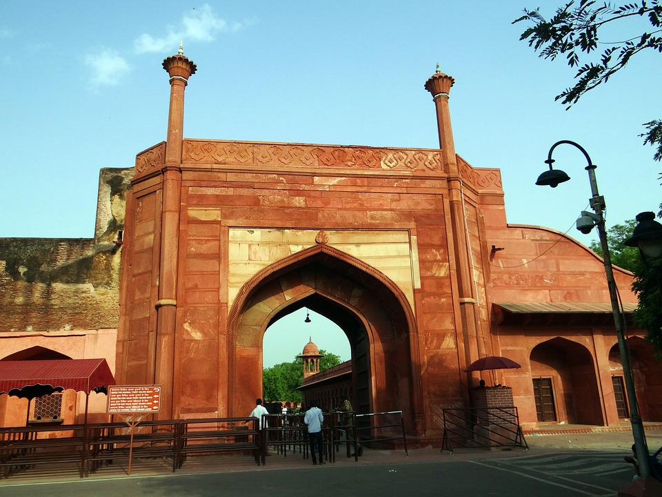 Eastern Gate, Taj Mahal, Agra, Unesco Site, India