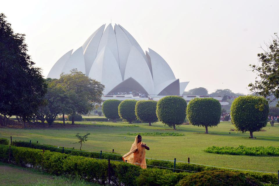 India, Temple, Lotus, Bahai, Woman, Buddha, Yoga