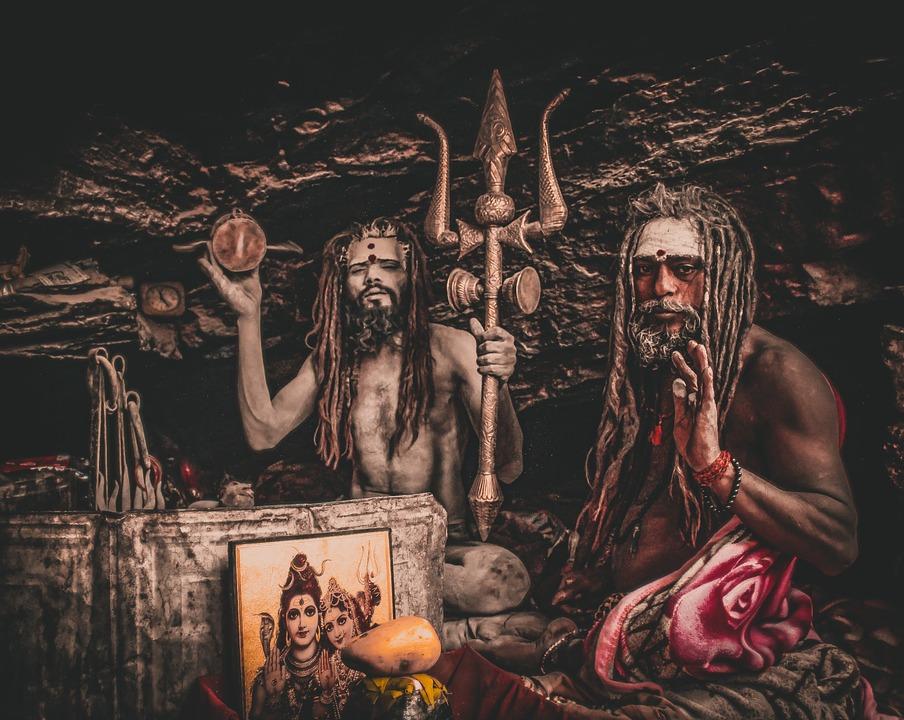 Priest, God, Caveman, Yogi, Trident, Indian Gods