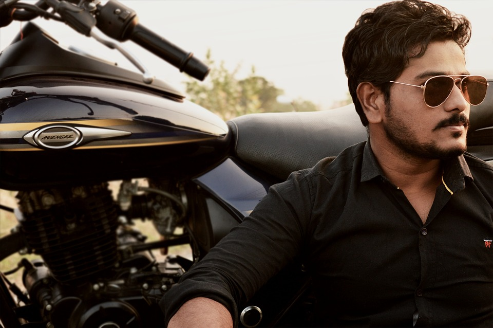 Male, Person, Motorcycle, Young, Glasses, Indian, Man