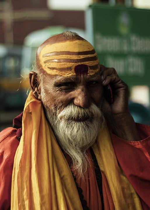 Indian Sadhu, Indian Monk, Monk, Human, Guru, India