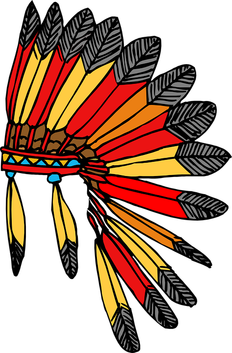 Feathers, Warrior, Indian, Native, American, Chief