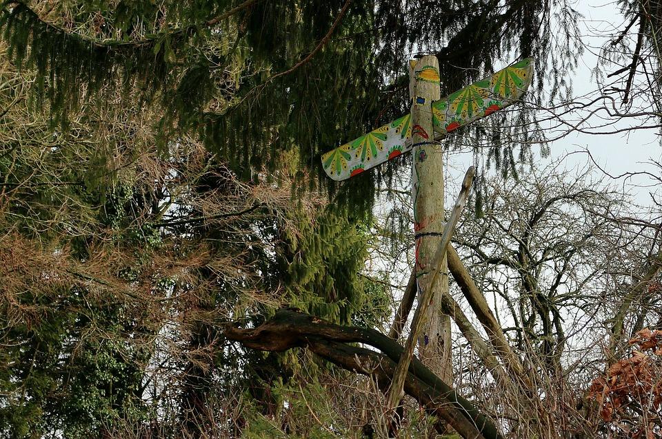 Totem Pole, Pile, Indians, Symbol, Coat Of Arms