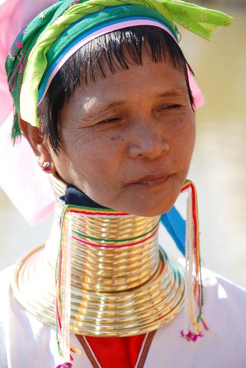Burma, Woman, Long Neck Women, Indigenous Culture
