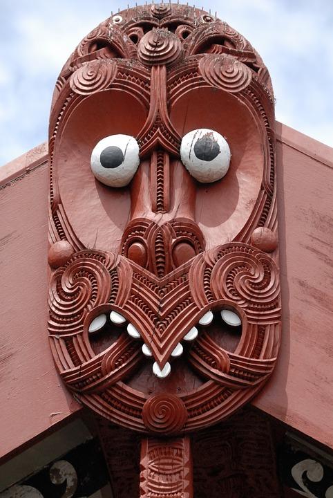 Maori, Mask, Rotorua, Indigenous