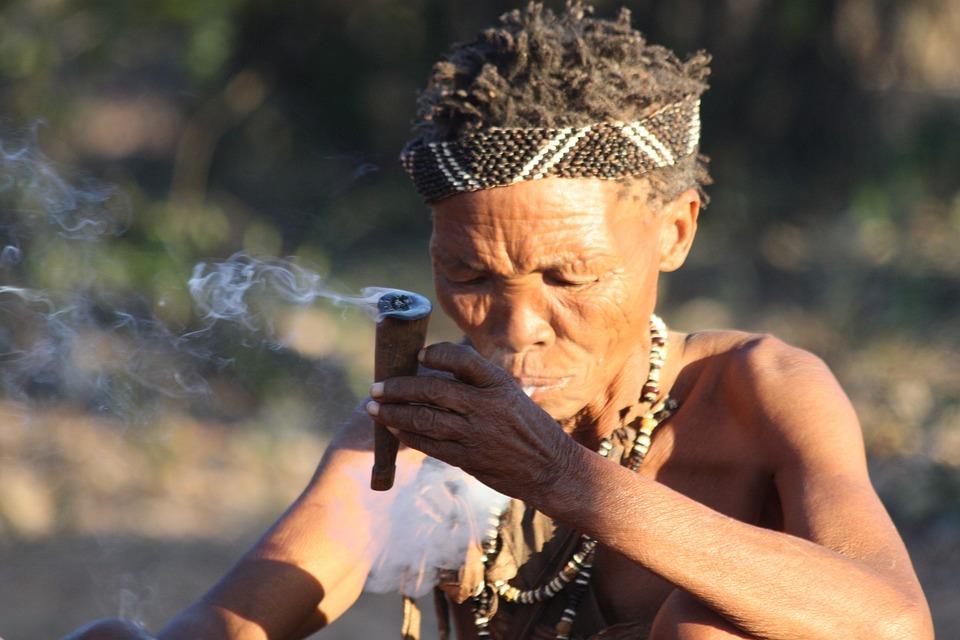 Woman, Indigenous, Smoking, Smoke, Bush Woman, Person