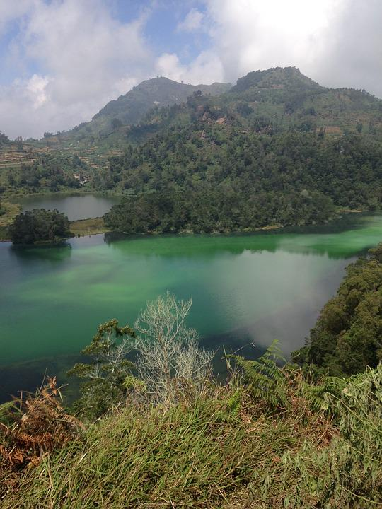 Volcanic Lake, Java, Indonesia