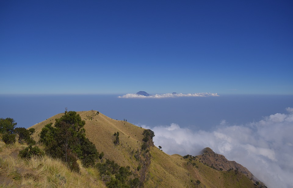 Summit, Peak, Mountain, Merbabu, Indonesia, Top