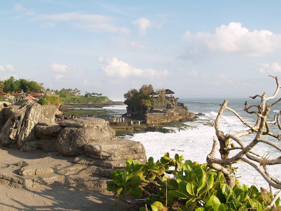 Bali, Indonesia, Island, Temple, Tanah Lot, Rock, Sea