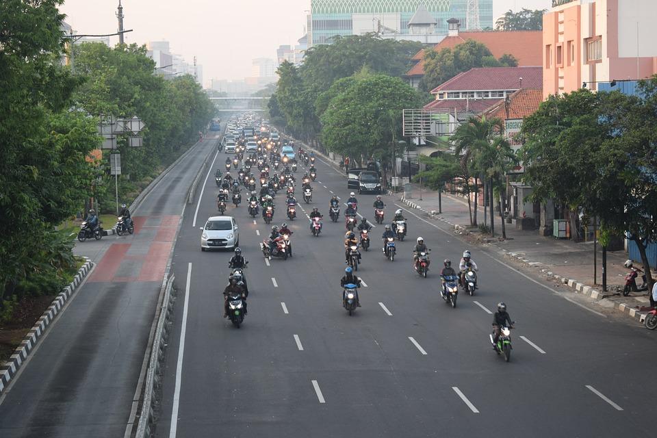 Street, Jakarta, Indonesia, Road, Urban, Asia, Way