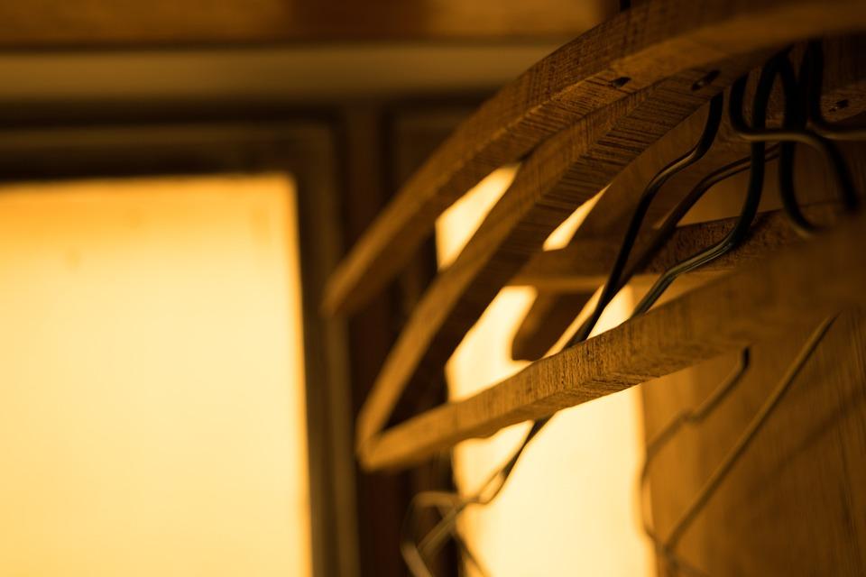 Indoor, Wooden, Hangers, Closet