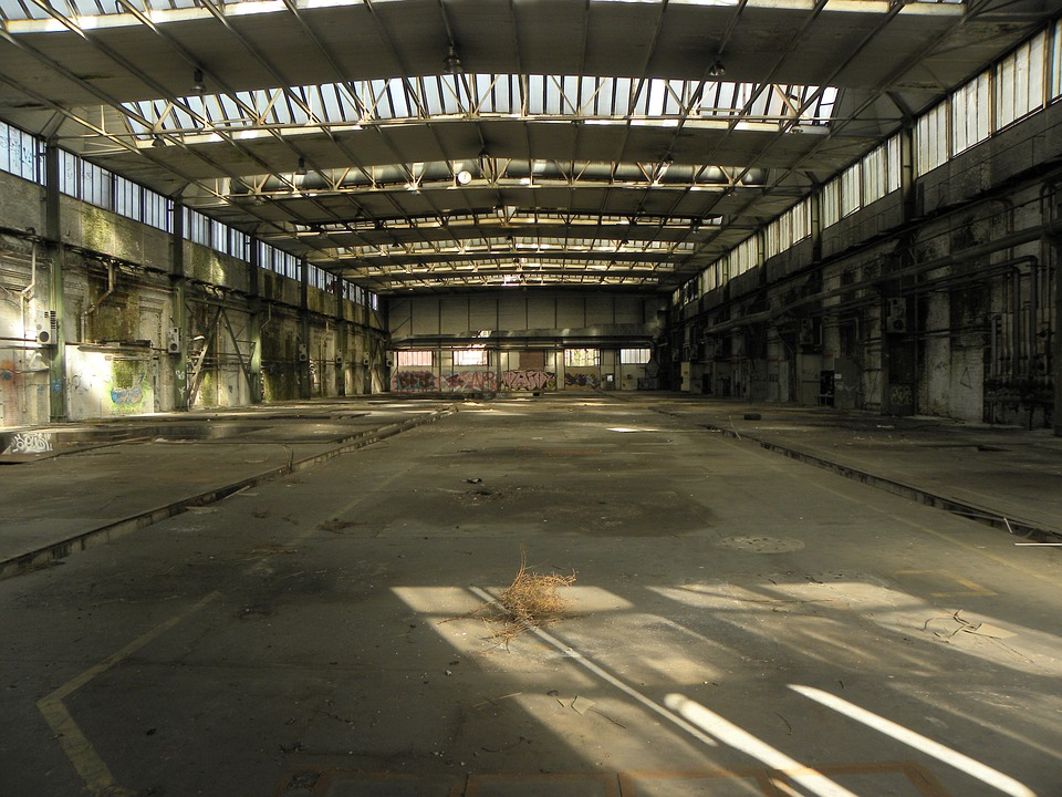 Industrial Hall, Factory Building, Hall, Factory, Ruin