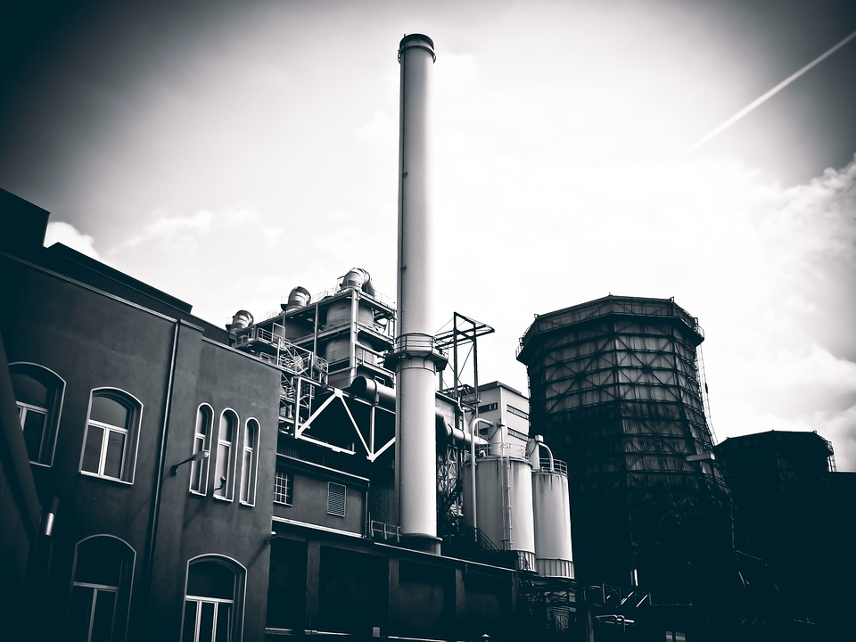 Industrial Plant, Chimney, Industry, Factory