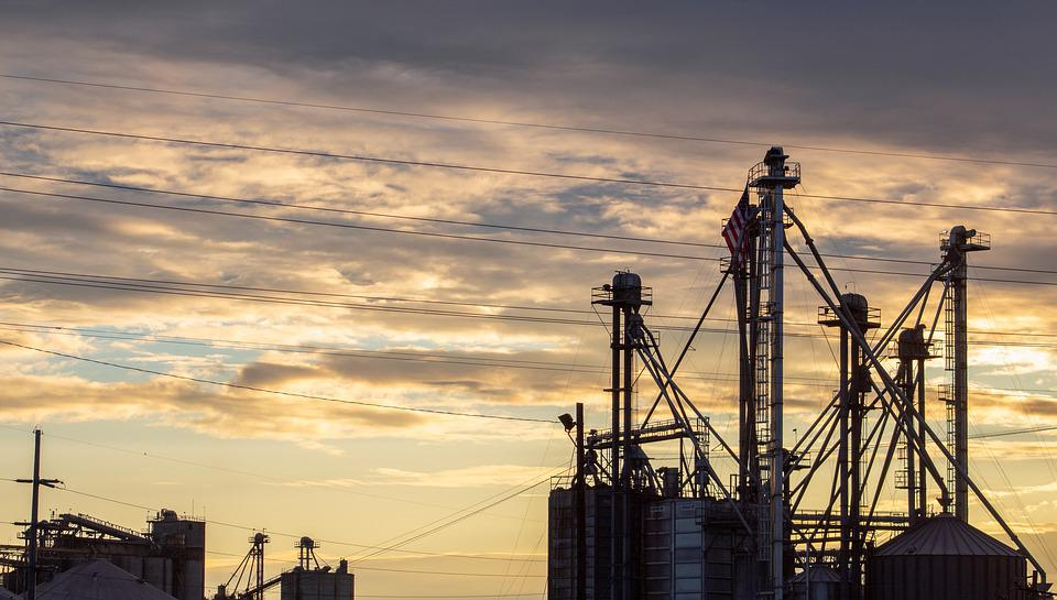 Factory, Industry, Clouds, Industrial Plant, Sunrise