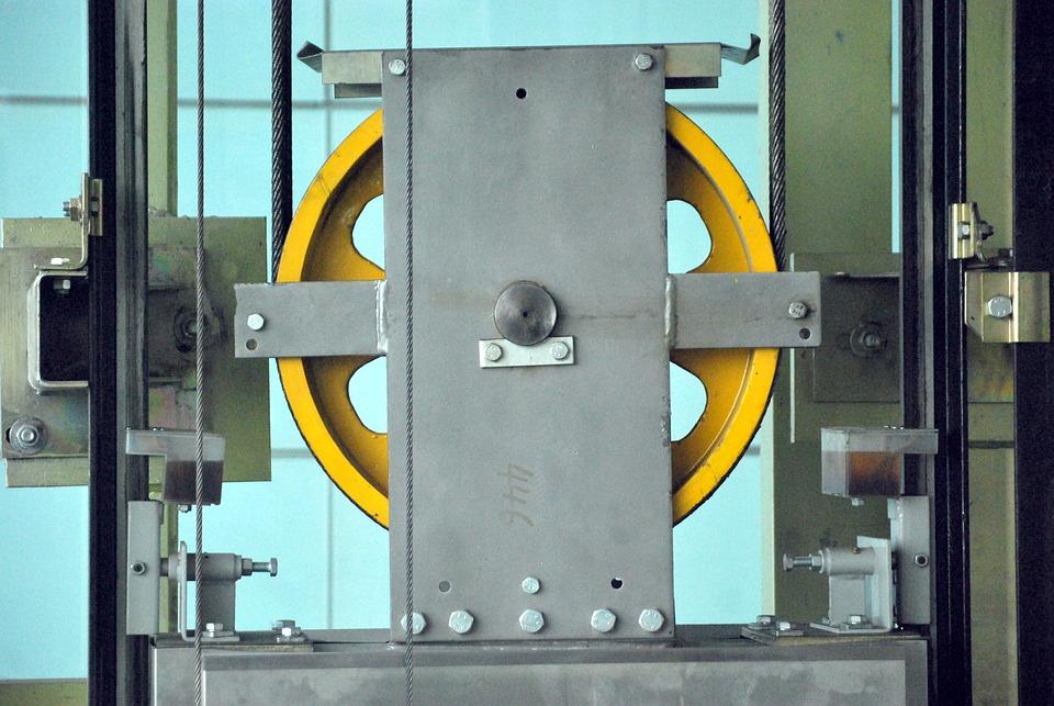 Pulley, Wheels, Gears, Workings, Elevator, Industrial