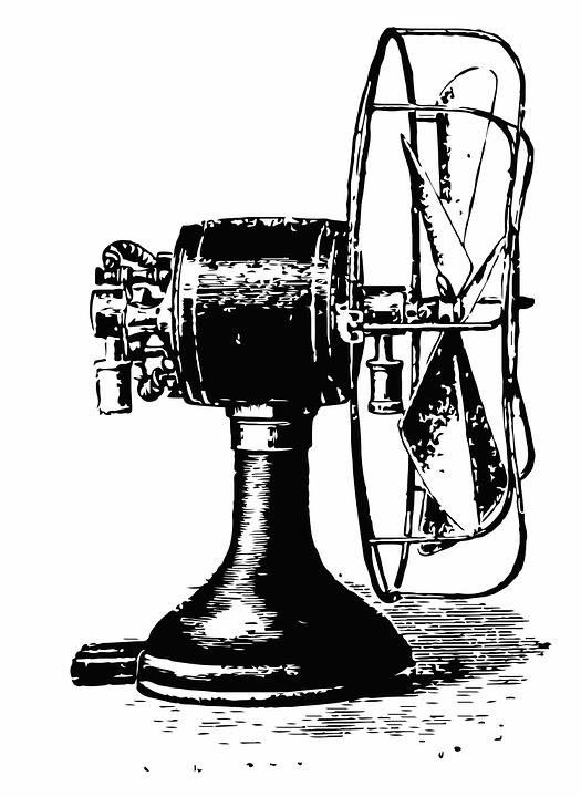 Vintage, Fan, Cooling, Industrial, Steampunk, Wind, Air