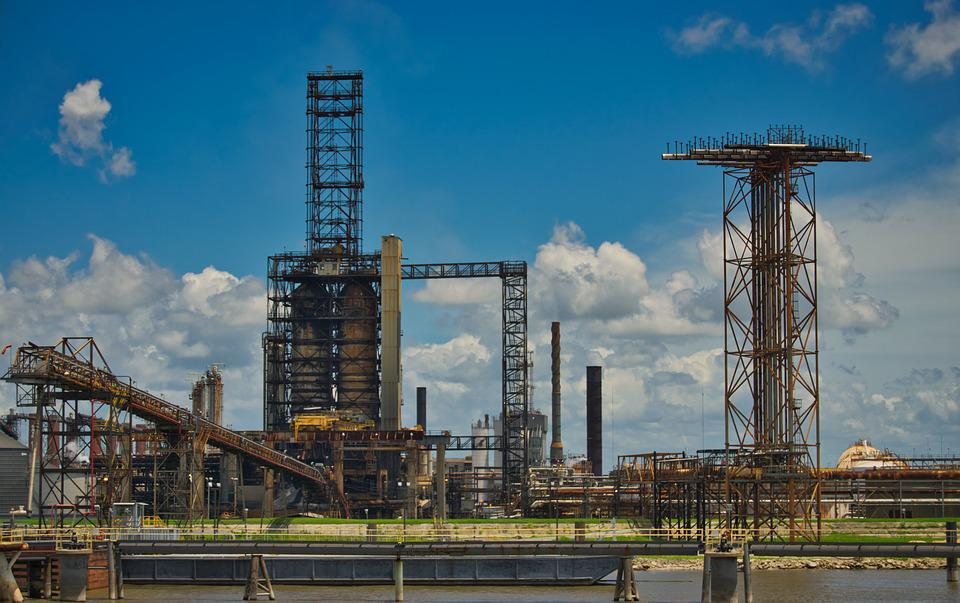 Oil Refinery, Industry, Oil, Mineral Oil, Architecture