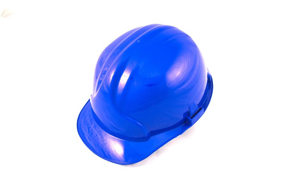 Work, Helmet, Blue, Industry, Safety, Construction