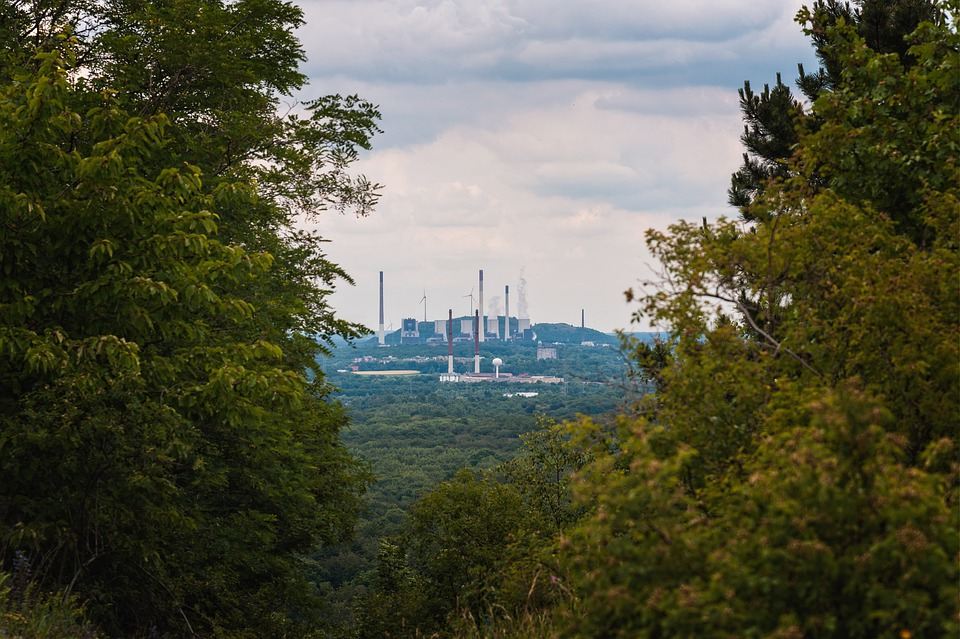 Nature, Industry, Contrast, Environment, Power Plant