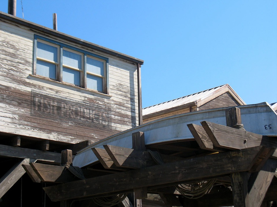 Wharf, Fishing, Boat, Disneyland, Pier, Coast, Industry