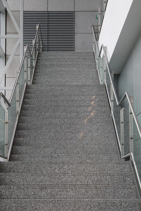 Stairs, Hall, Building, Industry