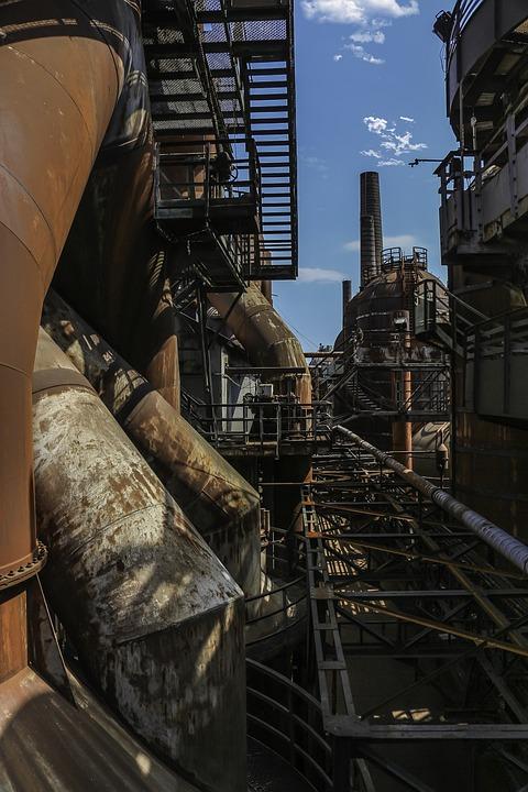 Industry, Steel, Pollution, Machine, Old, Steel Hut