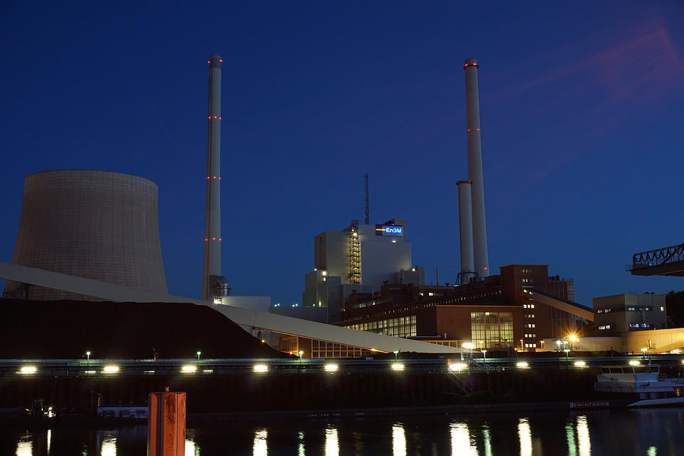 Night, Industry, Night Photograph, Incinerator
