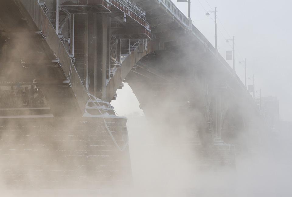 Fog, Smoke, Pairs, Industry, Steel, Water, Power
